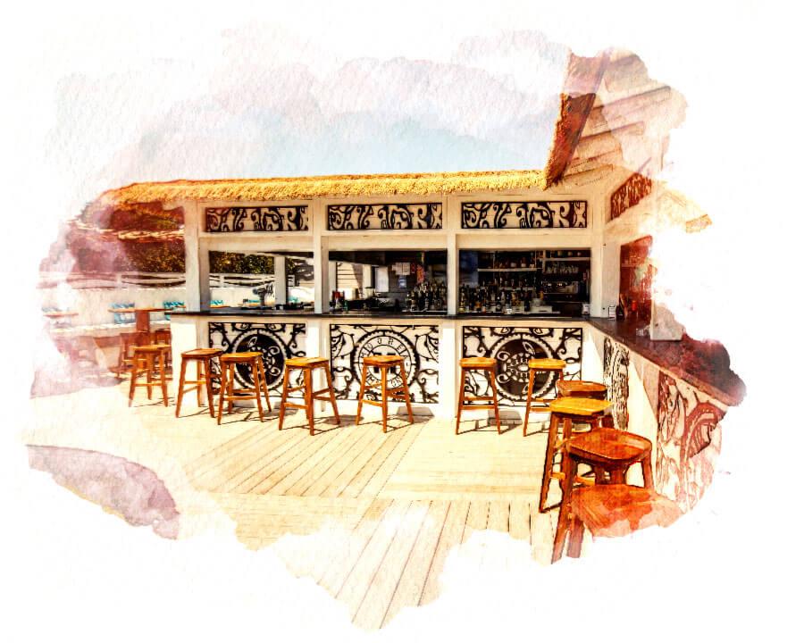Moorea plage - Bar - Plage de Pampelonne